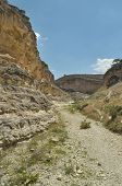 image of twisty  - Gorge with steep walls. South East Turkey. Leisure and tourism. Climbing the mountain ** Note: Visible grain at 100%, best at smaller sizes - JPG