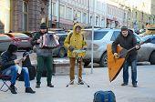 Street musical ensemble.