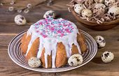 Easter Cake With White Glaze