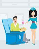 Passenger In Airplane