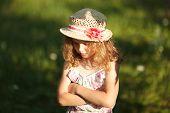 Little Girl In A Straw Hat