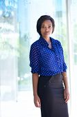 Confident Business Woman Standing Outside Office Building