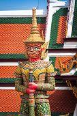 Demon Guardian Wat Phra Kaew Grand Palace Bangkok