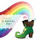 Rainbow And Green Shoe