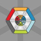part of hexagon infographics elements