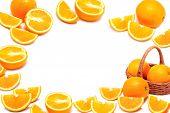 Orange Fruit With Slice ,fruit Background