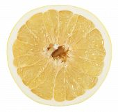 picture of pomelo  - Pomelo or Chinese grapefruit slice isolated on the white background - JPG