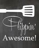 Kitchen Chalkboard Sign Flippin Awesome