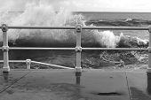 Railing and wave b