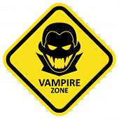 Vector sign. Vampire zone. Format eps 10