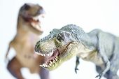 picture of pacific rim  - shooting closeup dinosaur model on white background  - JPG