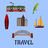 stock photo of tram  - Australian travel concept with famous cultural - JPG