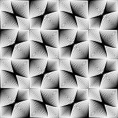 stock photo of quadrangles  - Design seamless monochrome geometric pattern - JPG
