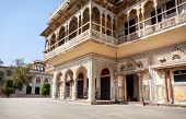 stock photo of rajasthani  - City Palace museum in Jaipur Rajasthan India - JPG