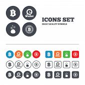 pic of bitcoin  - Bitcoin icons - JPG