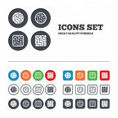 stock photo of sign board  - Circuit board icons - JPG