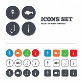 picture of fishing bobber  - Fishing icons - JPG