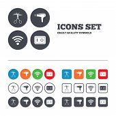 stock photo of barbershop  - Hotel services icons - JPG