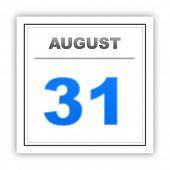 stock photo of august calendar  - August 31 - JPG