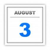 stock photo of august calendar  - August 3 - JPG