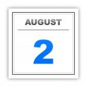 stock photo of august calendar  - August 2 - JPG