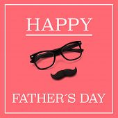 picture of moustache  - the sentence happy fathers day - JPG