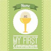 stock photo of communion-cup  - my first communion  design - JPG