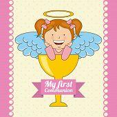 stock photo of communion  - my first communion design - JPG
