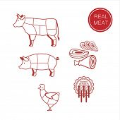 stock photo of meat icon  - meat  - JPG