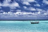 picture of amaze  - Little boat in the sea - JPG