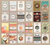 Vintage Styles brochure templates set with Labels. Vintage background to use as frames for advertisi poster