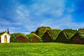 image of iceland farm  - The village first settlers in Iceland - JPG