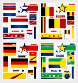 image of flags world  - Collection of Brazil Flags - JPG