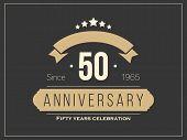 image of fifties  - Fifty years anniversary celebration logotype - JPG
