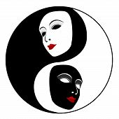picture of ying yang  - Masks - JPG