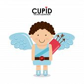 stock photo of cupid  - cupid cute design - JPG