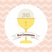 stock photo of communion-cup  - first communion design - JPG