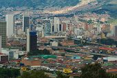 picture of medellin  - The city center of Medellin the second biggest city in Colombia which is the capital of the Department of Antioquia - JPG
