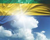 Постер, плакат: Gabon flag on a beautiful day