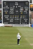 Cricket Umpire And Scoreboard
