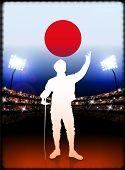 Постер, плакат: Япония фехтование на стадион фон оригинальные иллюстрации