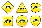 Wrestling Icon on Yellow Designs Original Illustration