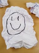 Paper Wad Of Smiley