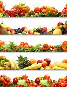 stock photo of vegetable food fruit  - 5 nutrition textures  - JPG