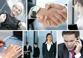 picture of business-partner  - Business collage made of some business pictures - JPG