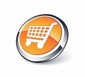 Shopping cart. Vector icon. Button