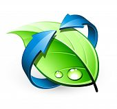 Green leaf design