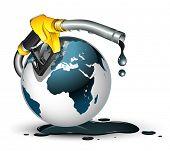 gas pump nozzle and globe