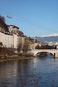 Grenoble Famous Eggs Under The River Bridge