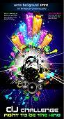 Flyer música Discoteque alternativa com cores do arco-íris atraente